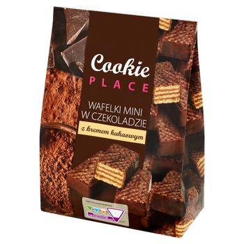 Cookie Place Wafelki mini w czekoladzie z kremem kakaowym 280 g
