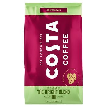 Costa Coffee Bright Blend Medium Roast Kawa palona ziarnista 1 kg