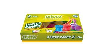 Cricco Farby Plakatowe 20ml 6 kolorów