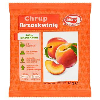 Crispy Natural Suszone chipsy z brzoskwini 15 g