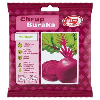 Crispy Natural Suszone chipsy z buraka o smaku winegret 18 g