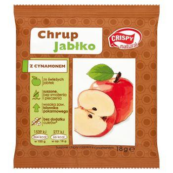 Crispy Natural Suszone chipsy z jabłka z cynamonem 18 g