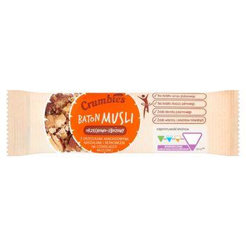 Crumbies Baton musli orzechowo-zbożowy z orzeszkami migdałami i nerkowcem na czekoladzie 25 g