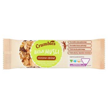 Crumbies Baton musli orzechowo-zbożowy z orzeszkami pistacjami i migdałami na czekoladzie 25 g