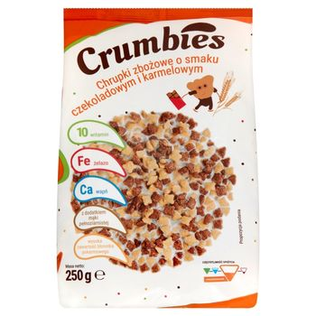 Crumbies Chrupki zbożowe o smaku czekoladowym i karmelowym 250 g