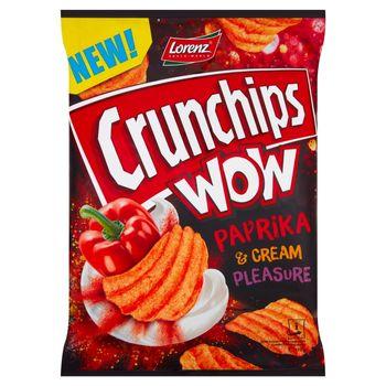 Crunchips Wow Grubo krojone chipsy ziemniaczane o smaku kremowej papryki 110 g