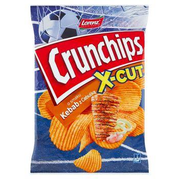 Crunchips X-Cut Chipsy ziemniaczane o smaku kebab z cebulką 140 g