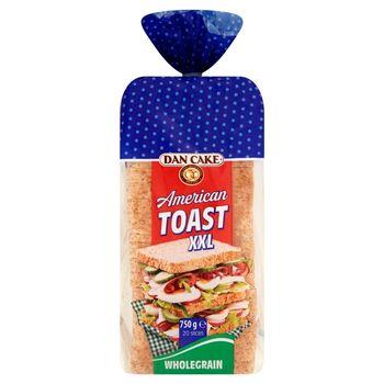 Dan Cake American Toast XXL Chleb pszenny pełnoziarnisty 750 g