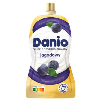 Danio Serek homogenizowany jagodowy 140 g
