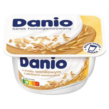 Danio Serek o smaku waniliowym z płatkami owsianymi 130 g