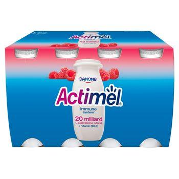 Danone Actimel Mleko fermentowane o smaku malinowym 800 g (8 x 100 g)