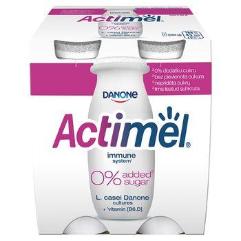 Danone Actimel Mleko fermentowane o smaku naturalnym 400 g (4 x 100 g)