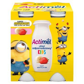 Actimel Mleko fermentowane o smaku truskawkowo-bananowym 400 g (4 x 100 g)