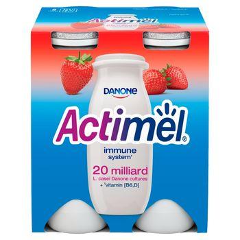 Danone Actimel Mleko fermentowane o smaku truskawkowym 400 g (4 x 100 g)