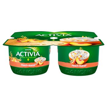 Danone Activia Jogurt brzoskwinia musli 480 g (4 x 120 g)