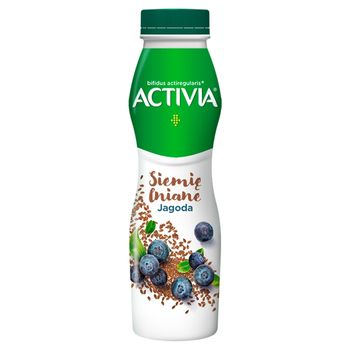 Danone Activia Jogurt siemię lniane jagoda 290 g