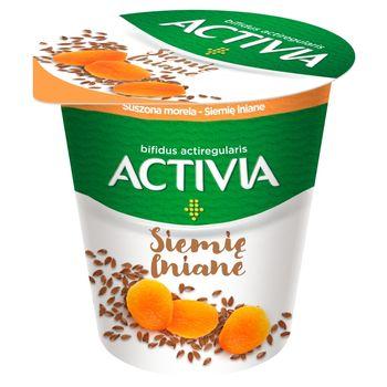 Danone Activia Jogurt suszona morela siemię lniane 140 g