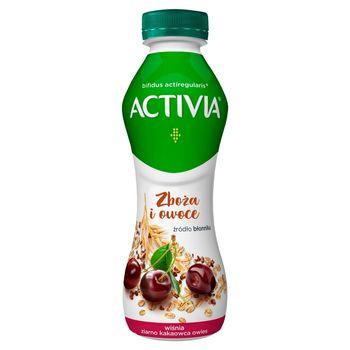 Danone Activia Jogurt wiśnia ziarno kakaowca owies 280 g