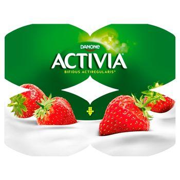 Danone Activia Jogurt truskawka 480 g (4 x 120 g)