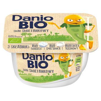 Danone Danio Bio Serek homogenizowanyo smaku śmietankowym 130 g