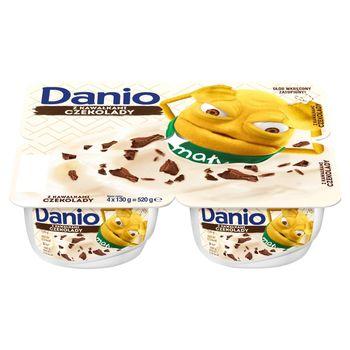 Danone Danio Extra Serek homogenizowany z czekoladą 520 g (4 x 130 g)