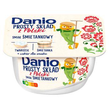 Danio Prosty Skład z Polski Serek homogenizowany smak śmietankowy 130 g