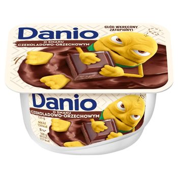 Danone Danio Serek homogenizowany o smaku czekoladowo-orzechowym 135 g