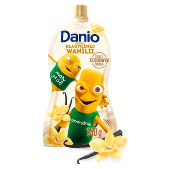 Danone Danio Serek homogenizowany o smaku waniliowym 140 g