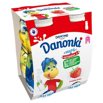 Danone Danonki Jogurt truskawka 400 g (4 x 100 g)