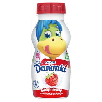 Danone Danonki Koktajl mleczny o smaku truskawkowym 185 g