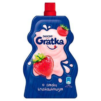 Danone Gratka Deser mleczny o smaku truskawkowym 65 g