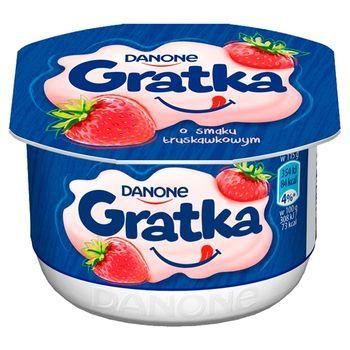 Danone Gratka Deser o smaku truskawkowym 115 g