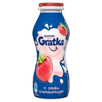 Danone Gratka Napój mleczny o smaku truskawkowym 170 g