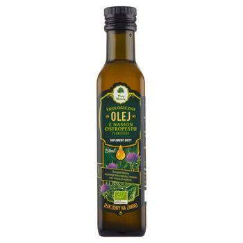 Dary Natury Suplement diety ekologiczny olej z nasion ostropestu plamistego tłoczony na zimno 250 ml