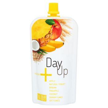 DayUp Yellow Puree jabłkowe z jogurtem naturalnym bananem ananasem kokosem i płatkami 120 g