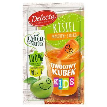 Delecta Owocowy kubek Kids Kisiel marchew-jabłko 31 g
