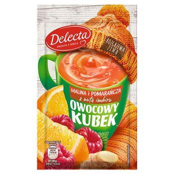 Delecta Owocowy kubek Kisiel o smaku malin i pomarańczy z nutą imbiru 30 g