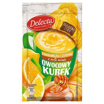 Delecta Owocowy kubek Kisiel o smaku pomarańczy i cytryny z nutą miodu 30 g