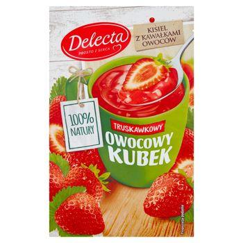 Delecta Z serca natury Owocowy kubek Kisiel o smaku truskawkowym 30 g