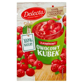 Delecta Z serca natury Owocowy kubek Kisiel o smaku żurawinowym 30 g