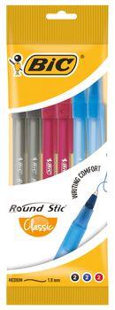 Długopis BIC Długopis Round Stick Mix Pouch 6