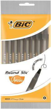 Długopis BIC Długopis round stick pouch 8 Czarny