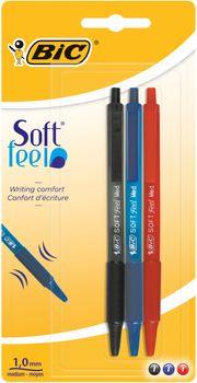 Długopis BIC Soft Fell Click (blister 3 sztuki)