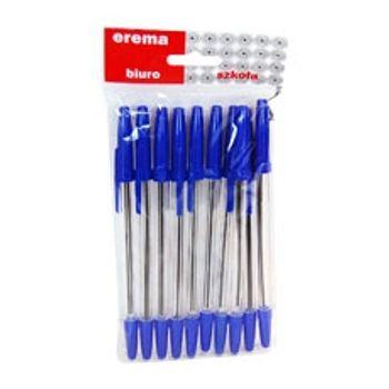 Długopis Erema Crown Wikam niebieski/czarny 10 szt