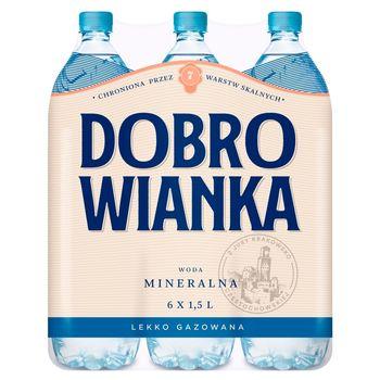 Dobrowianka Woda mineralna lekko gazowana 6 x 1,5 l