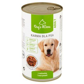 Dog's Menu Adult Karma dla psa z wołowiną i warzywami 1240 g