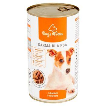Dog's Menu Karma dla psa z drobiem i wołowiną 1250 g