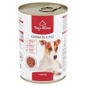 Dog's Menu Karma dla psa z wołowiną 400 g