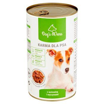 Dog's Menu Karma dla psa z wołowiną i warzywami 1250 g