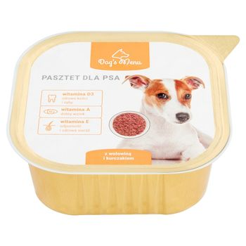 Dog's Menu Pasztet dla psa z wołowiną i kurczakiem 300 g